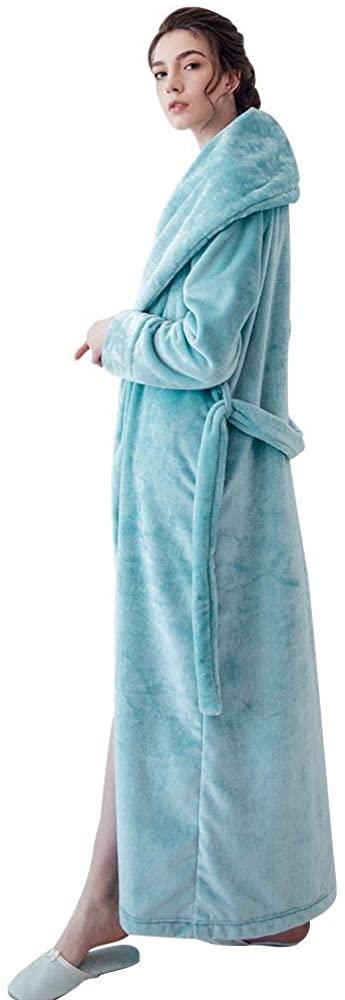 7 VEILS Women and Men Plush Fleece Ultra Long Floor Length Bathrobes Plus Size Robes