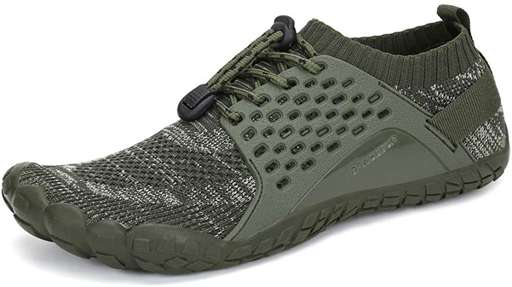 Yopaseeur Women's Minimalist Trail Running Barefoot Shoes Wide Toe Box GMY Workout Shoes