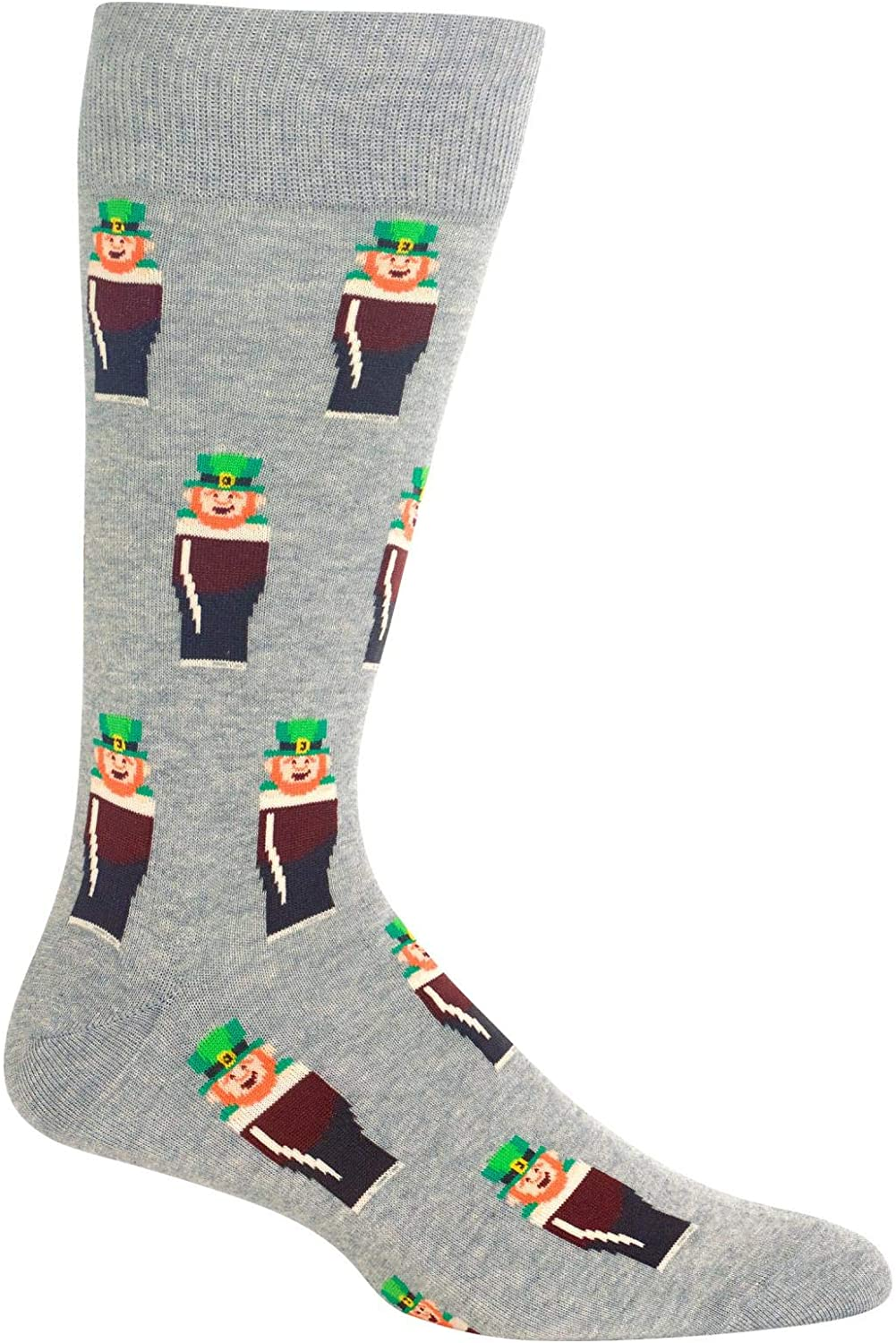 HotSox Mens Leprechauns Socks, 1 Pair, Mens Shoe 6-12.5