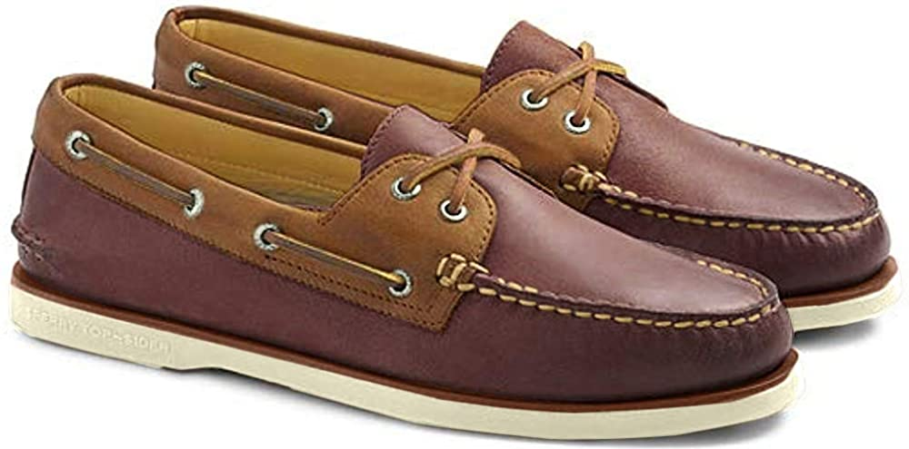 Sperry STS17941: Top-Sider Men Burgundy/Brown Gold Authentic Original Boat Shoes (14 D(M) US Men)
