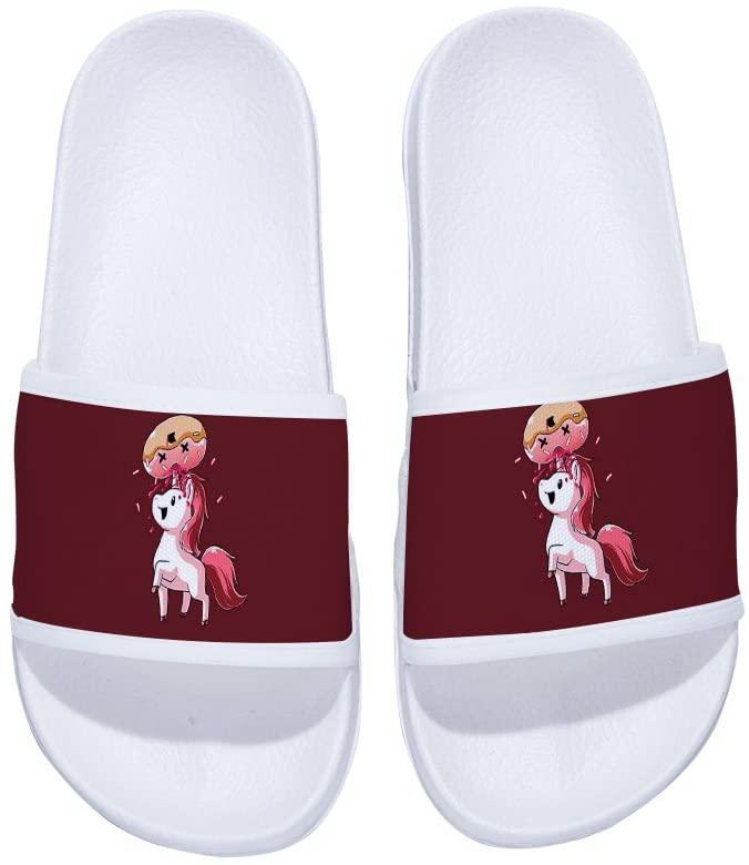 MingDe Sports Men Unicorn Slide Sandals Non-Slip Swimming Shower Bathroom Slippers with Starry Sky