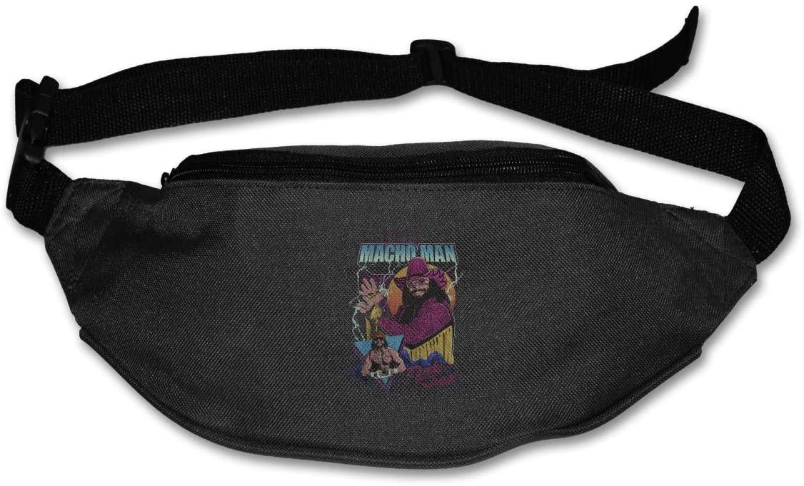 Ertregysrtg Macho Man Randy Savage Runner's Waist Pack Fashion Sport Bag