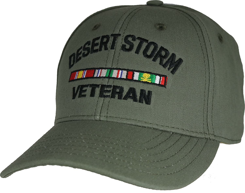 Desert Storm Veteran baseball cap. Green. Made in USA