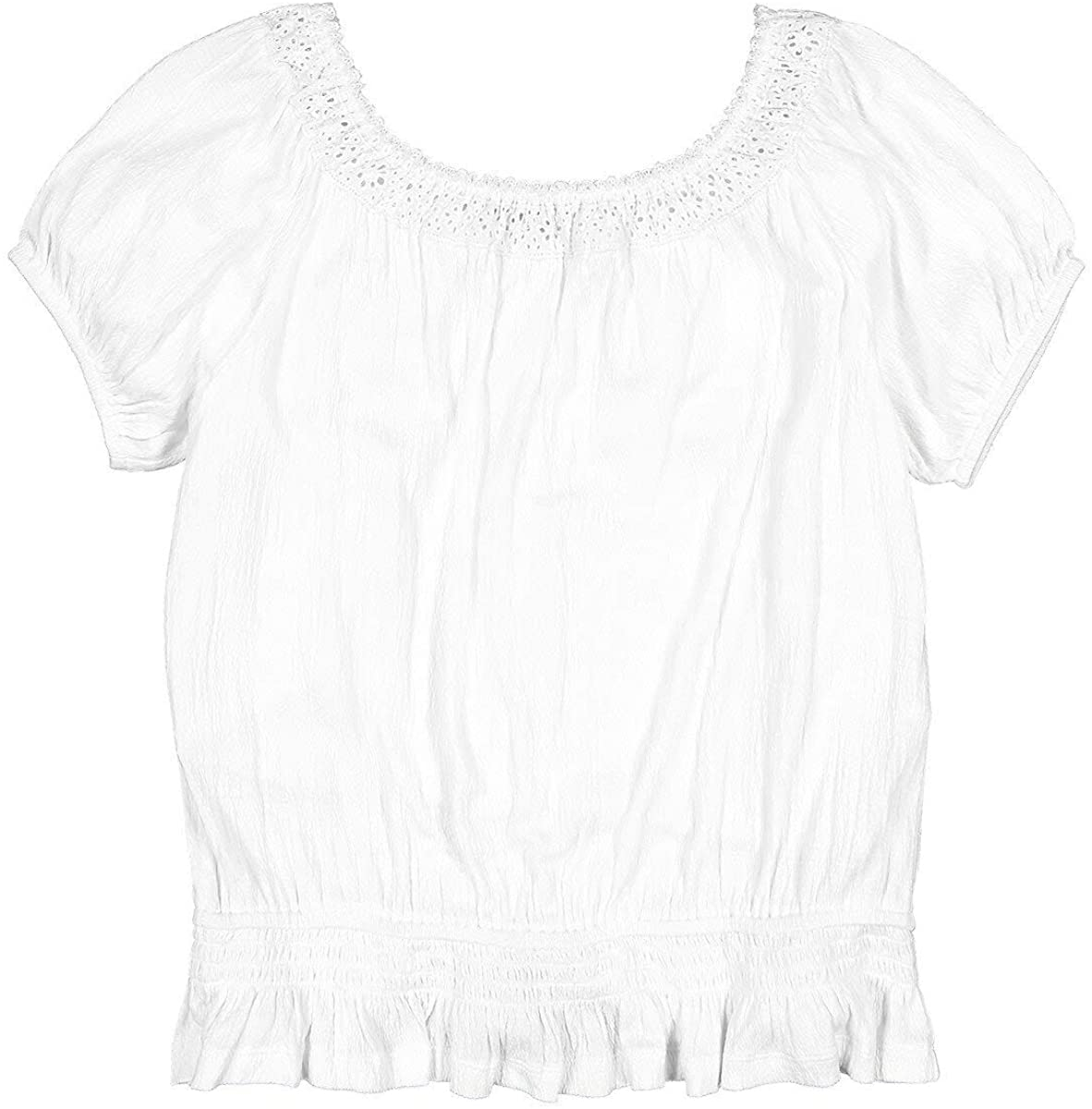 La Redoute Collection Off The Shoulder T-Shirt with Embroidery, 10-16 Years