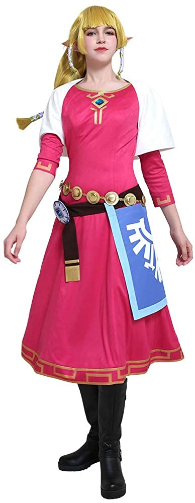 miccostumes Women's Princess Zelda Skyward Sword Cosplay Costume Dress