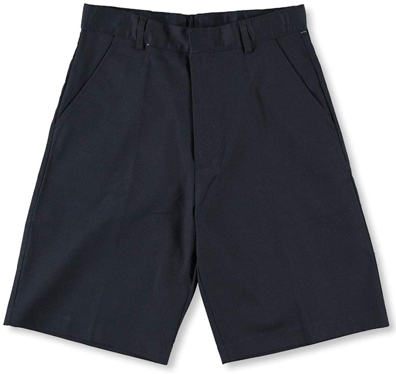 Universal Big Boys' Pleated Front Shorts w/Hook and Eye Closure Schoo- SKU Navy