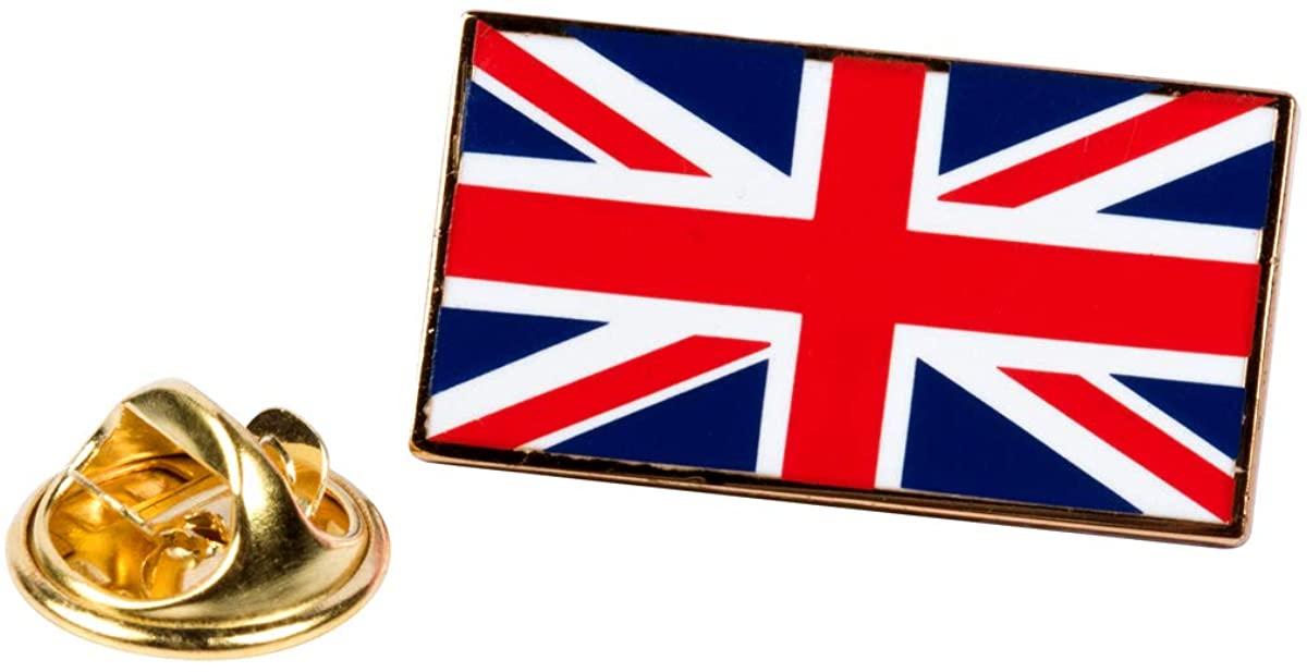 PinAddict Union Jack Flag Lapel Pin UK British Tie Tack United Kingdom