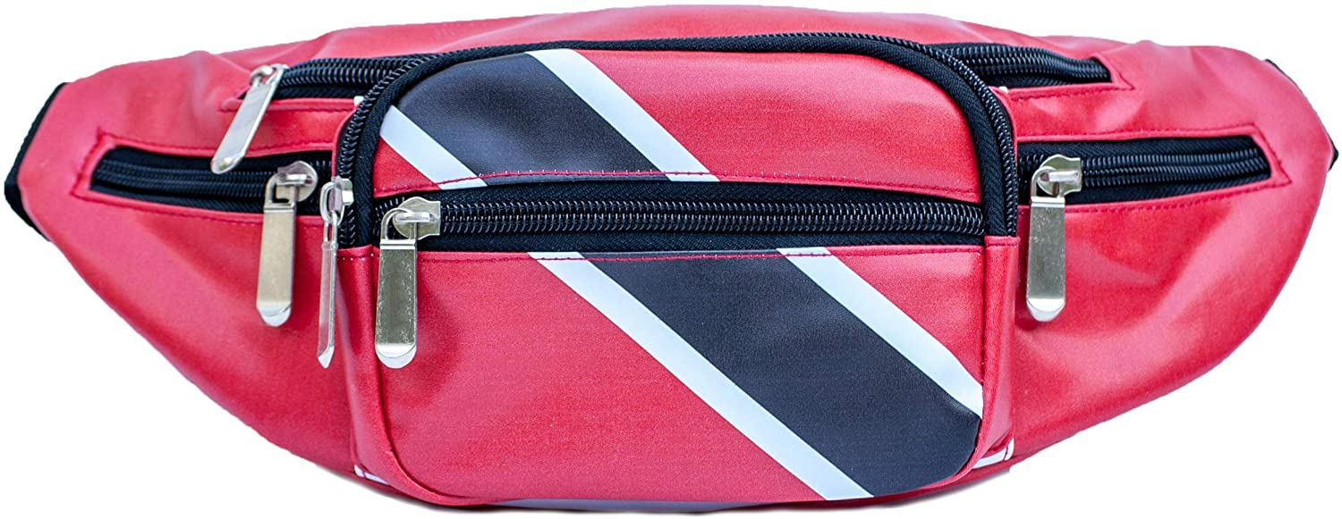 OOtees Trinidad and Tobago Flag Waist Pack Bag Fanny Pack for Men and Women - Trendy Crossbody Bum Bag Outfit with Adjustable Strap