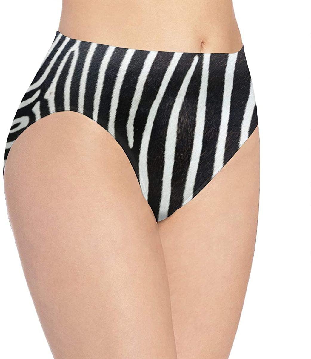 DMoMoMD Women Underwear Zebra Stripes Briefs Soft Sexy Bikini Panties
