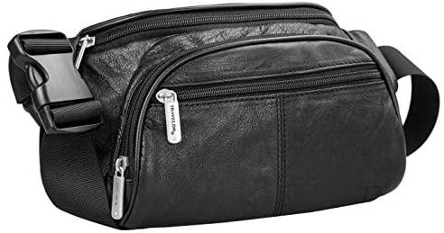 Travelon: RFID Blocking Leather Waist Pack - Black