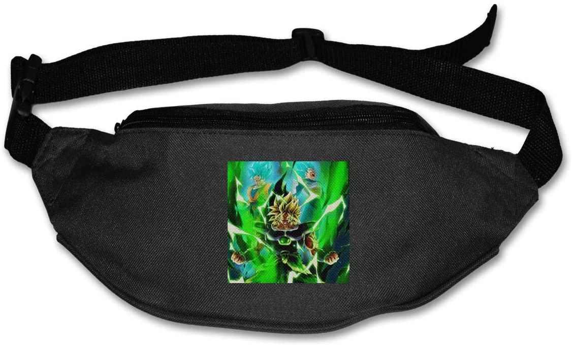 TeriDDeas Dragon Ball Super Unisex Best Combo Fanny Pack Waist Bag Phone Holder Adjustable Running Belt for Cycling,Hiking,Gym
