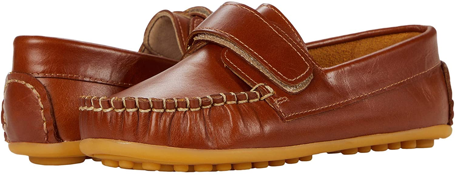Elephantito Boys European Driving Style Loafer, Natural,1 Little Kid