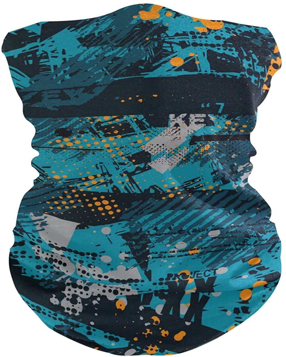 Unisex Balaclava Face Covers Scarf Novelty Bandana Masks Headband Abstract Geometric Graffiti Dust Wind Sun Magic Headwear For Men Women Boys Girls