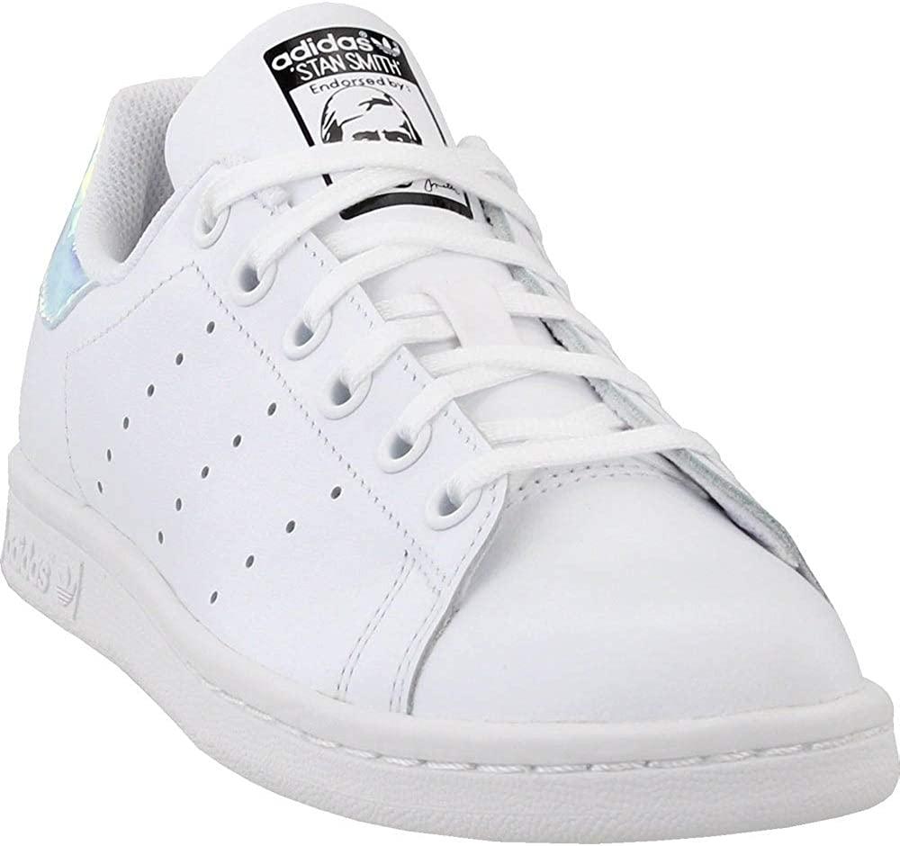 adidas AQ6272 Grade School Stan Smith J White/Metallic Silver