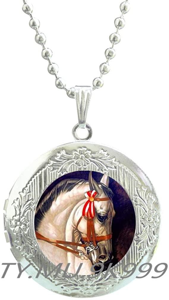 Yao0dianxku Unicorn Locket Pendant, Unicorn Locket Necklace, Unicorn jewelry, fantasy art gift, Unicorn blue moon Locket Necklace, Mythical moon Locket Necklace.Y180
