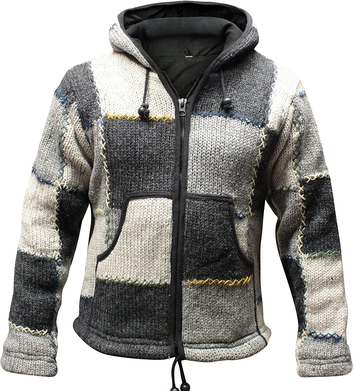 Shopoholic Fashion Mens Wool Patchork Jacket