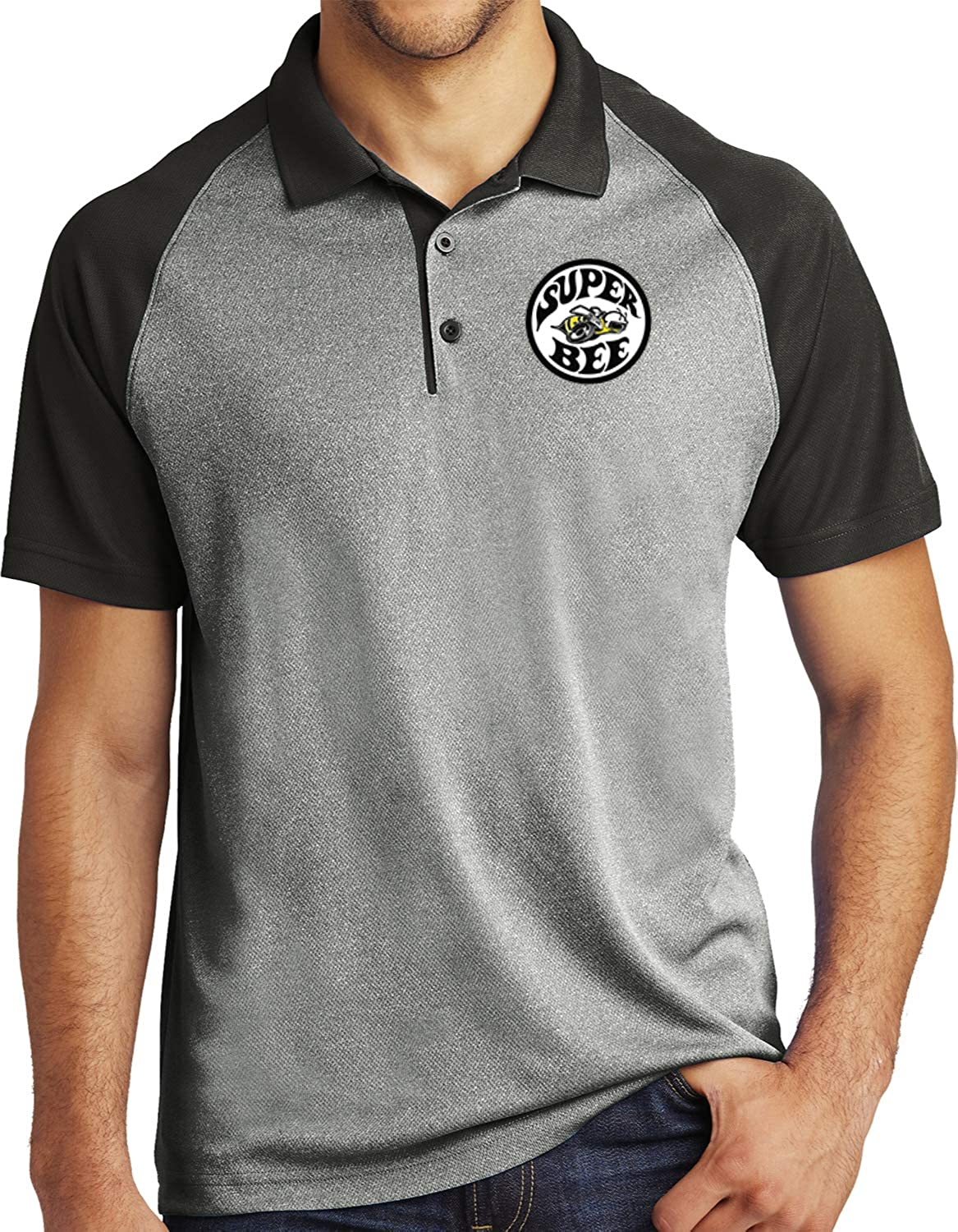 Dodge Raglan Polo Super Bee Circle Logo Pocket Print