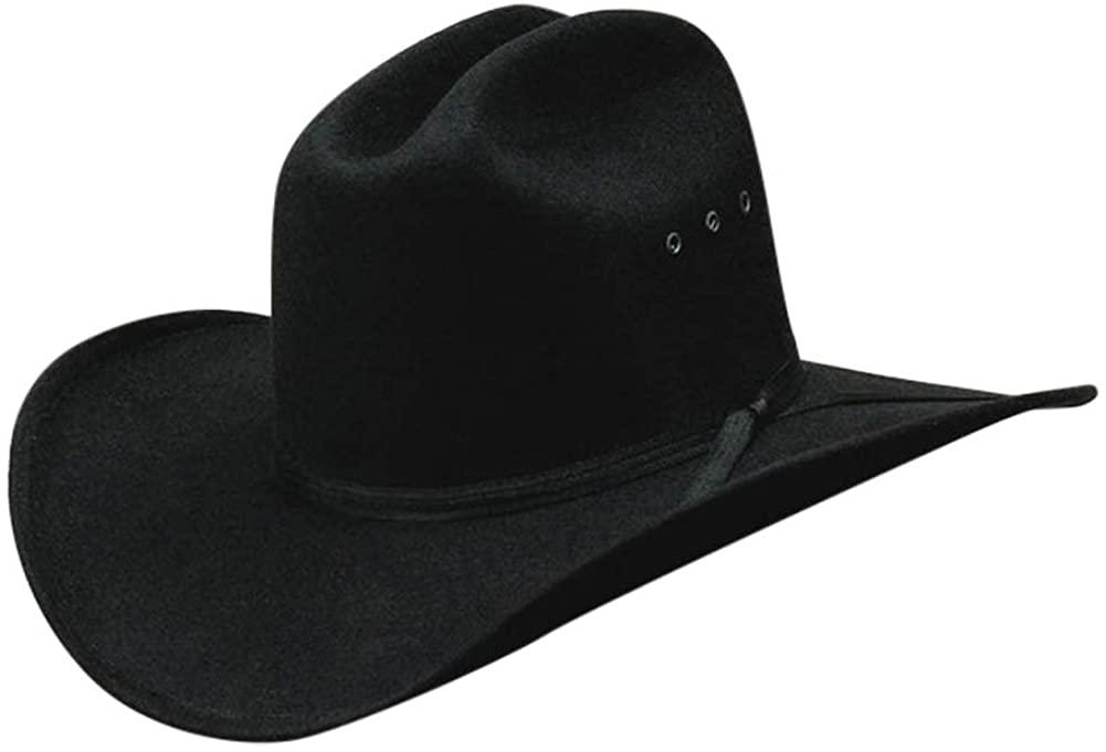 WESTERN EXPRESS All Black Faux Felt Cowboy Hat with Black Band