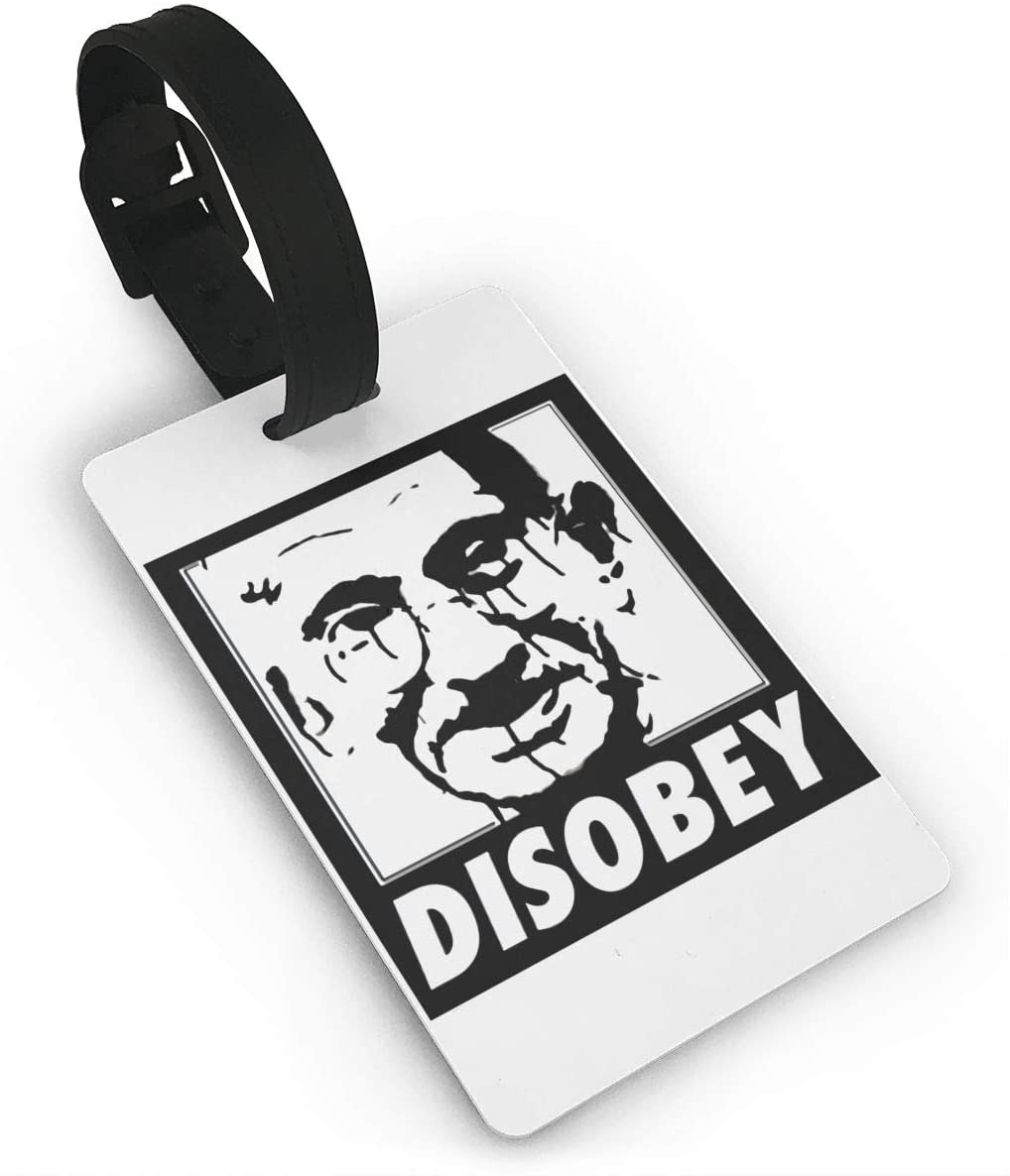 Disobey Gandhi Revolution Power To The People Luggage Tag