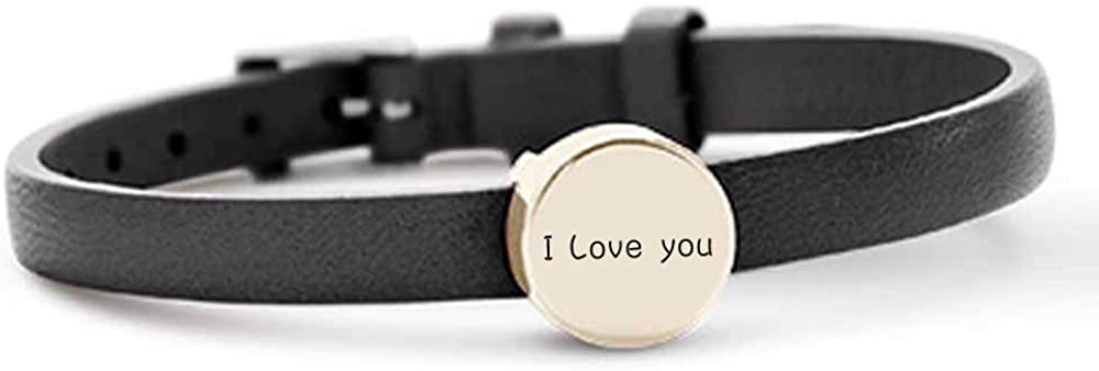 Cremation Bracelet for Ashes Genuine Leather Bangles Cremation Ashes Keepsake Jewelry Stainless Steel for Memorial Urn Bracelet