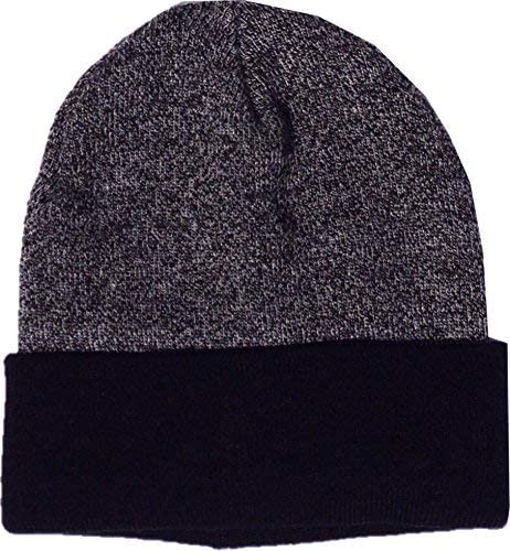 Hipster Acrylic Knit Watch Hat Gray
