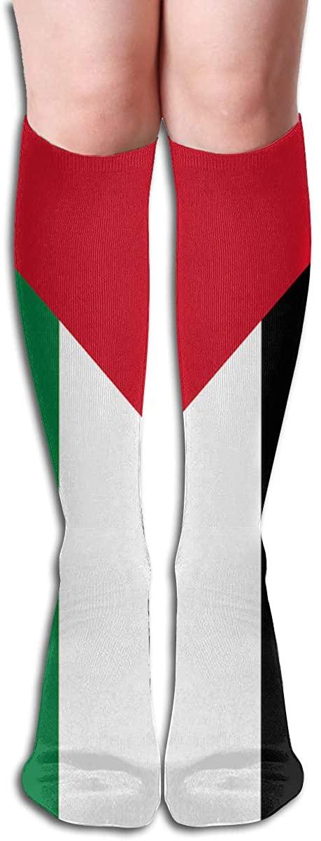 HXXUAN Palestine Flag Knee High Socks Cotton Long Knee-high Stockings(50 Full Print)