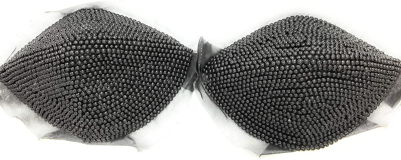 Black Pearl Bra Cups -Exotic Bra Cups - 1 Pair -Size B