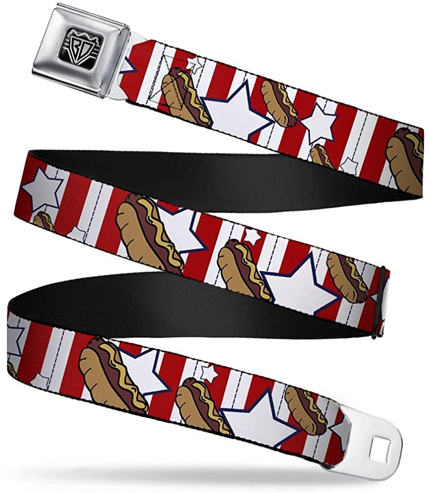 Buckle-Down Seatbelt Belt - Hot Dogs - 1.0