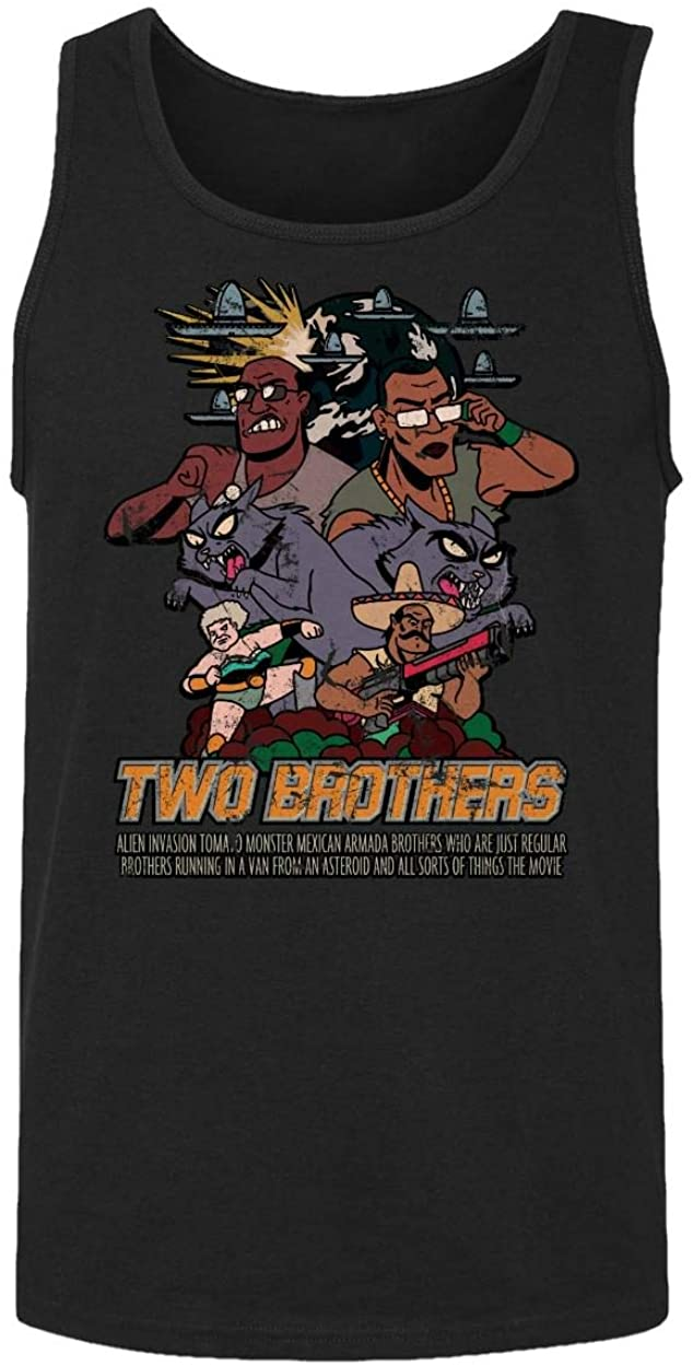 RIVEBELLA New Graphic Tee Rick Morty Shirt Two Brothers Graphic Mens Tank Top