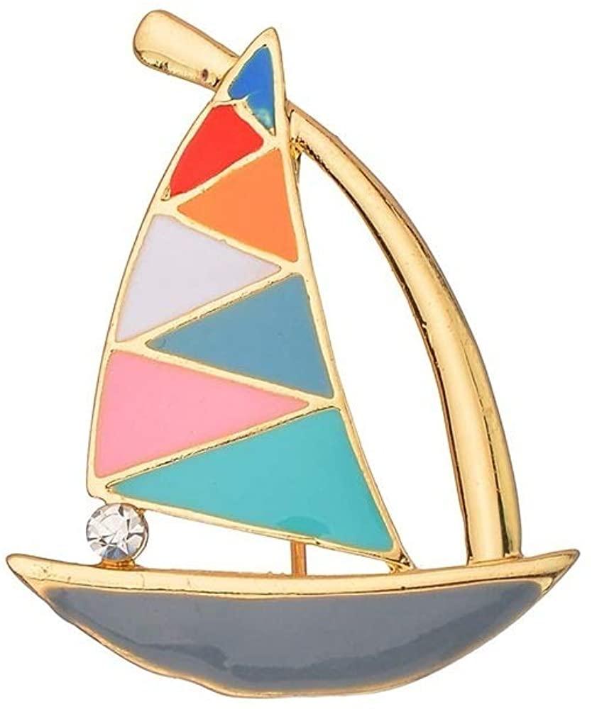 MUYUN Fashion Colorful Enamel Sailboat Brooch Delicate Elegant Sailor Crew Pins Jewelry