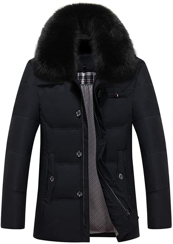 SK Studio Mens Windproof Lightweight Zippers Puffer Coat Down Jacket