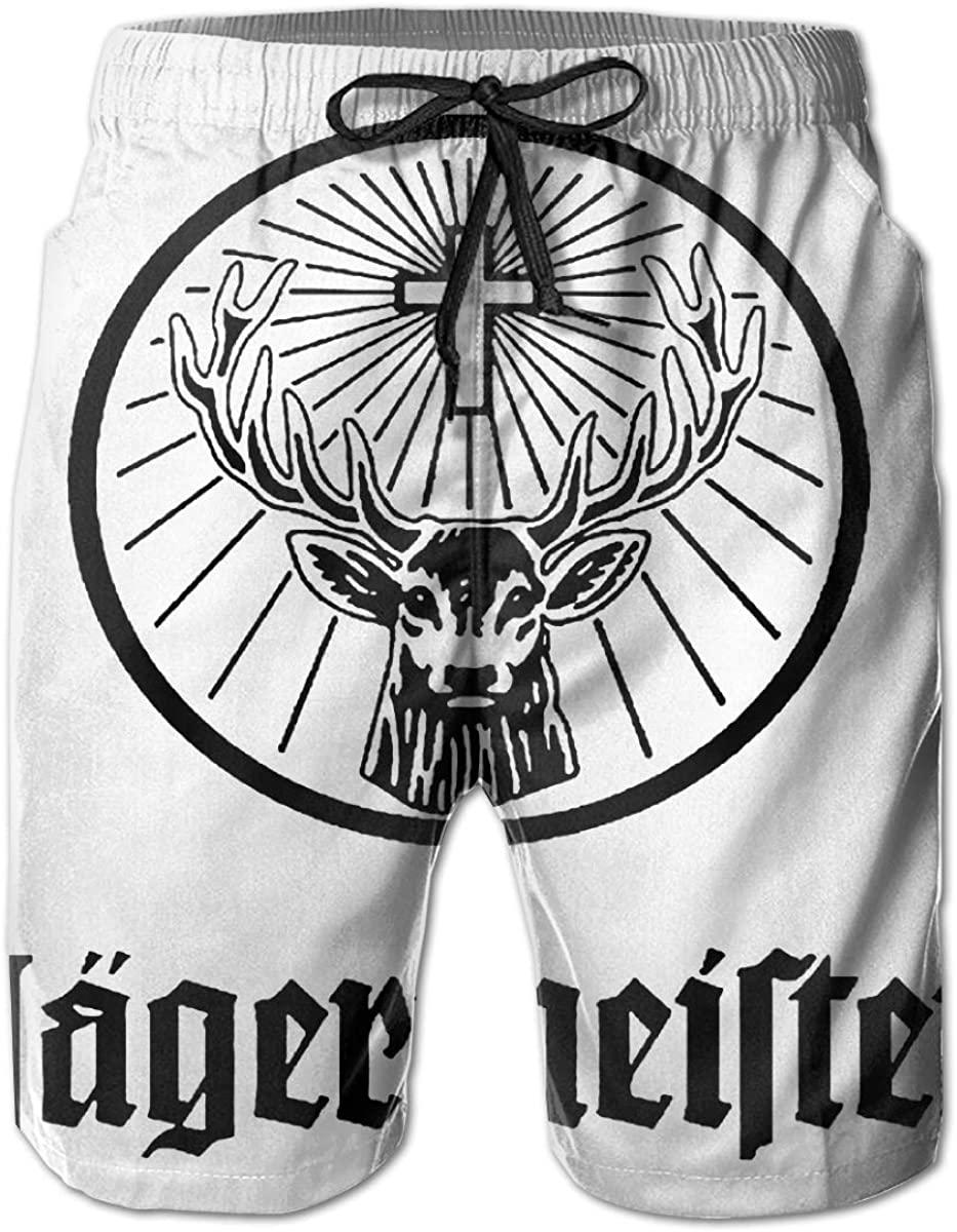 Vito H. Jackson Men's Beach Shorts Jagermeister Personalized Fashion Customization White