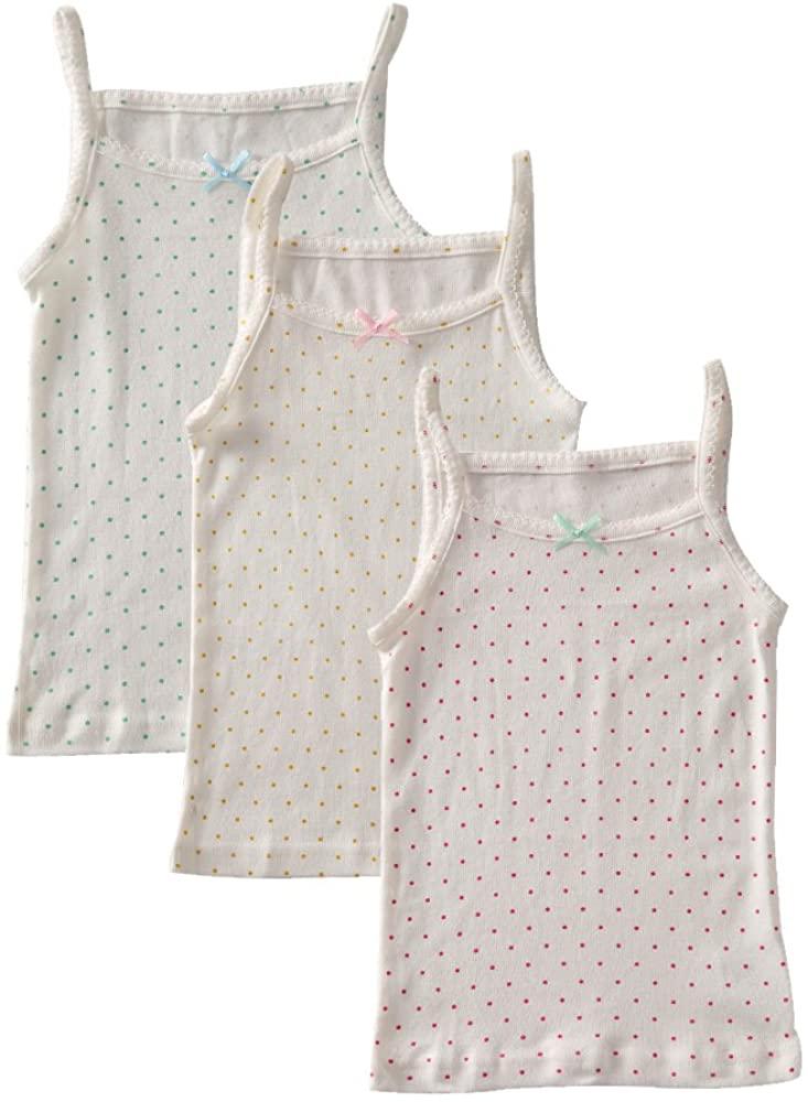 benetia Girls' Soft Cotton Undershirts 3-Pack