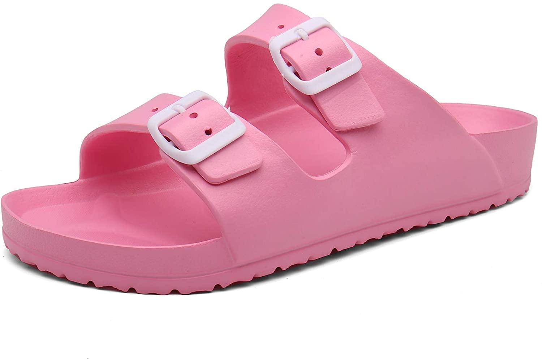 SAGUARO Men's Women's EVA Double Buckle Slide Sandals Lightweight Comfort Slip on Slippers