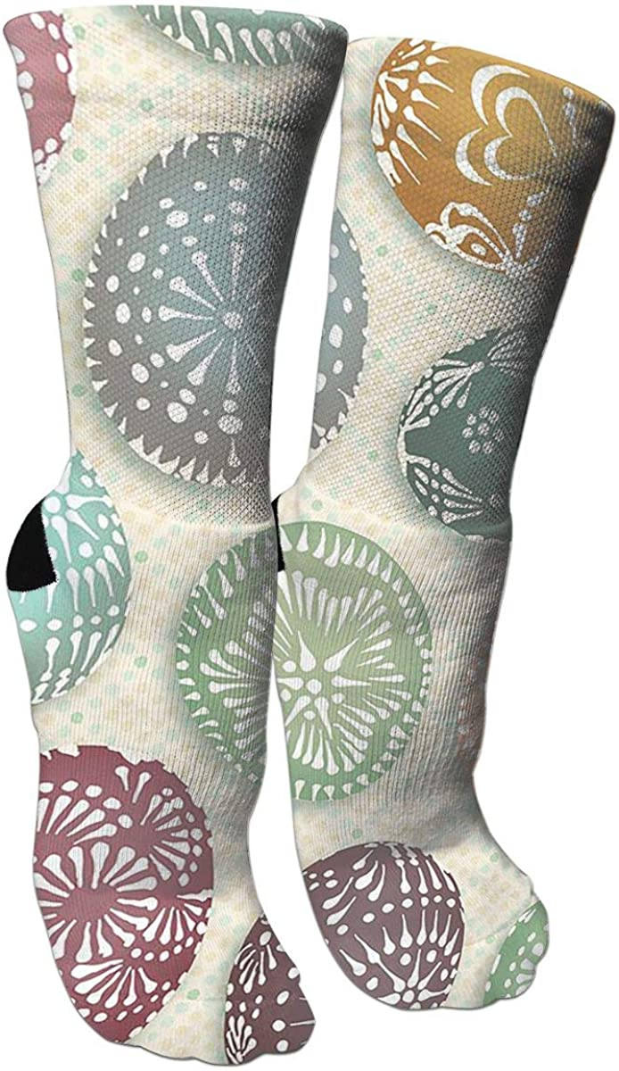 Lithuanian Easter Eggs Crazy Funny Colorful Novelty Graphic Basketball Crew Tube Socks