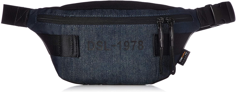 Diesel Men's URBHANITY FELTRE-Belt Bag, Blue Indigo/Blue Denim, UNI