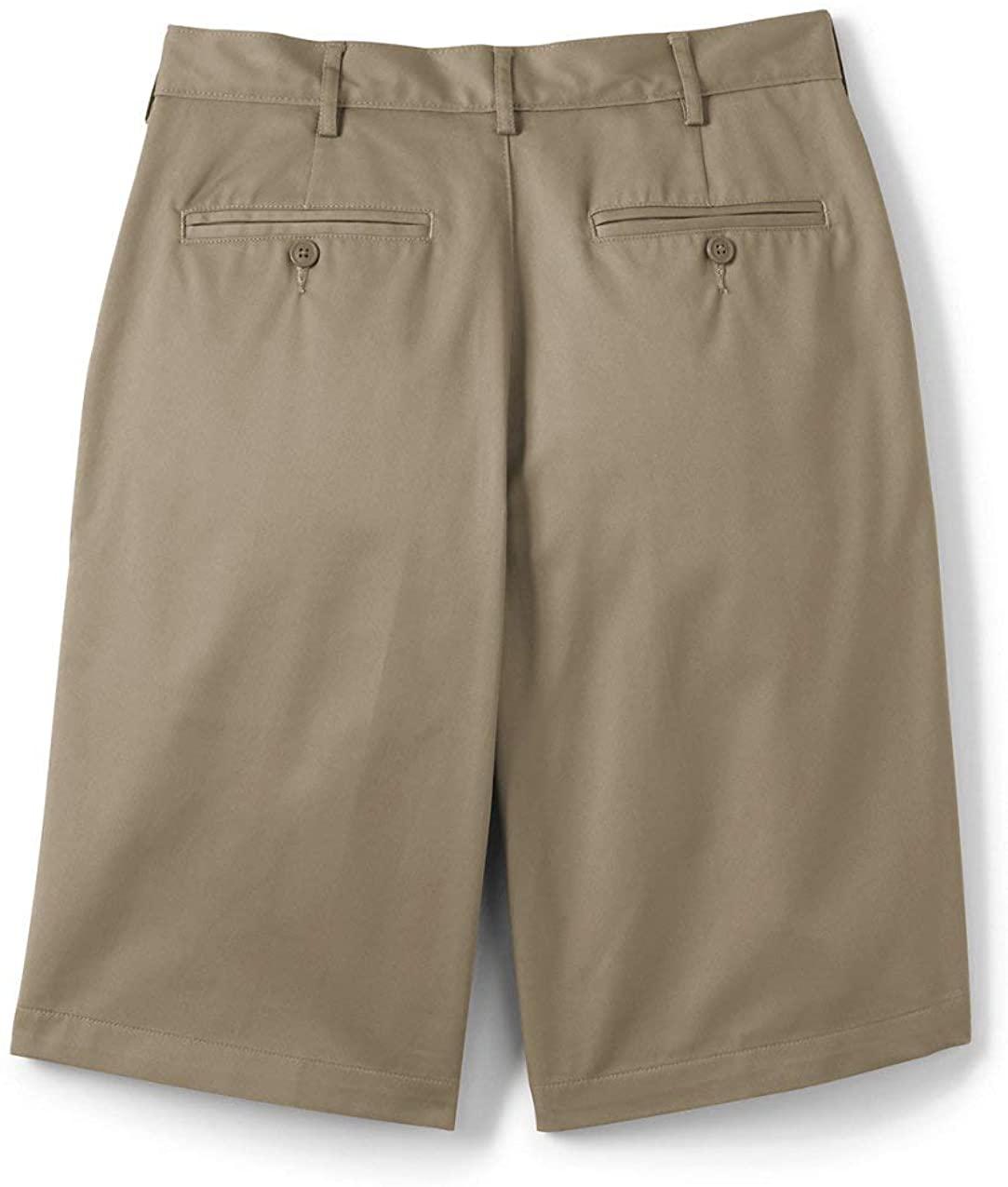 Lands' End School Uniform Men's Plain Front Blend Chino Shorts