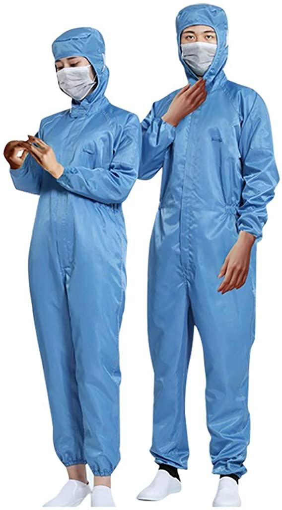 POQOQ Protective Isolation Clothing Unisex Reusable Waterproof Anti-Fog