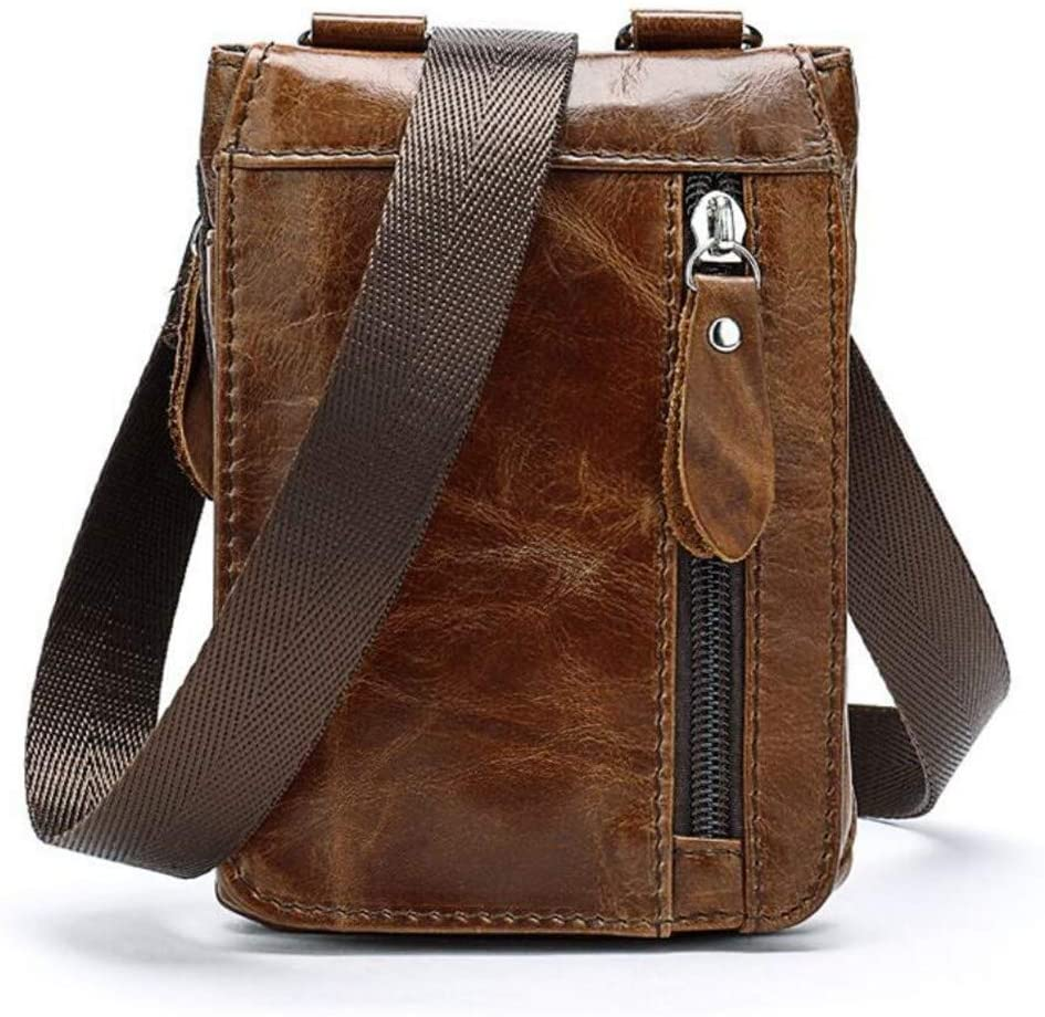 Youngate Mens Vintage PU Faux Leather Waist Bag Pouch Fanny Pack for Cell Phone(Brown2)
