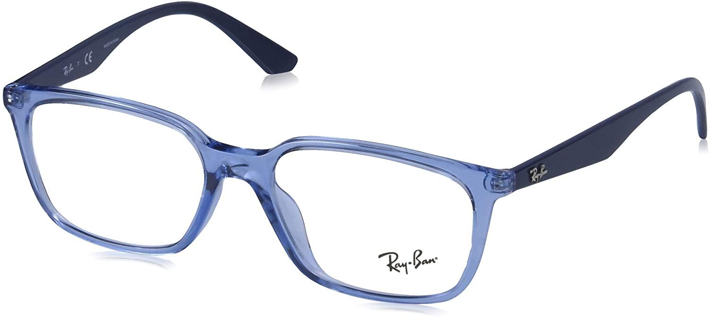 Ray-Ban Rx7176f Asian Fit Rectangular Prescription Eyeglass Frames