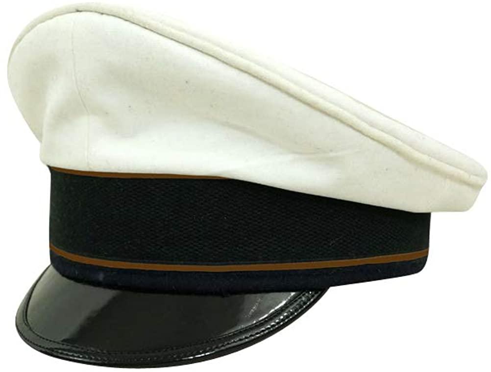 WW2 German Luftwaffe Air Signals summer white Visor cap