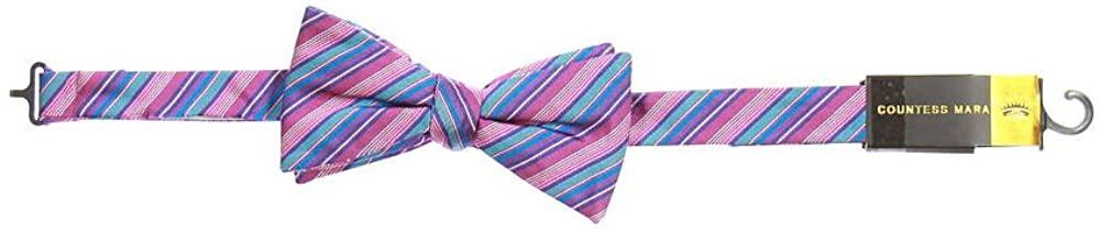 Countess Mara Men's Light Purple Striped Pre-Tied Bow Tie