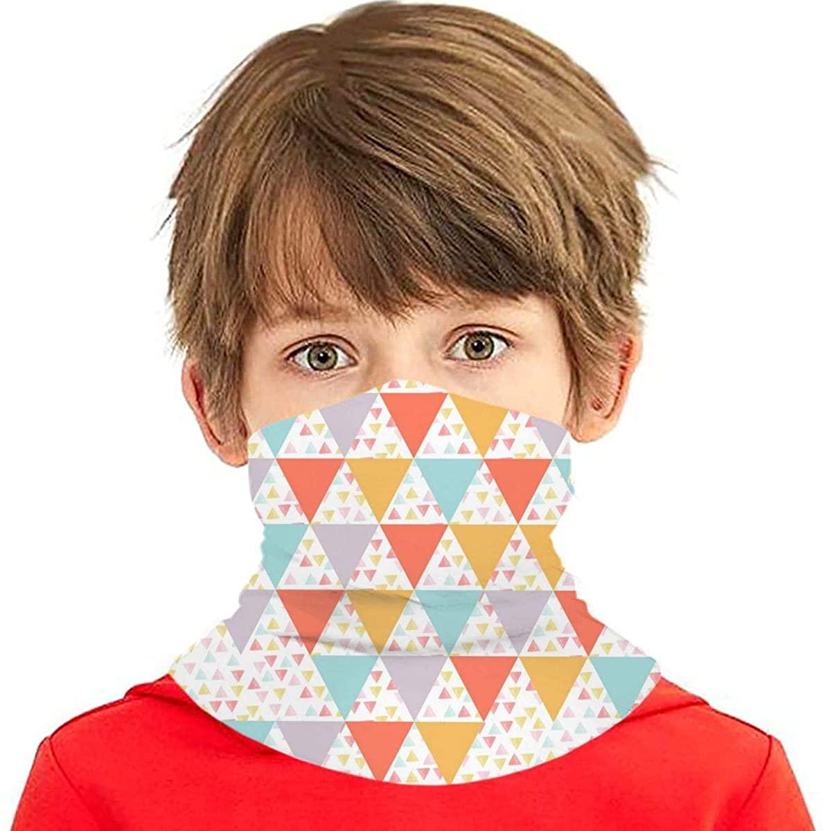 Youth Face Bandanas, Geometric Art Reusable Face Mask Half Face Towel Mouth Cloth Facial Scarf Variety Headscarf