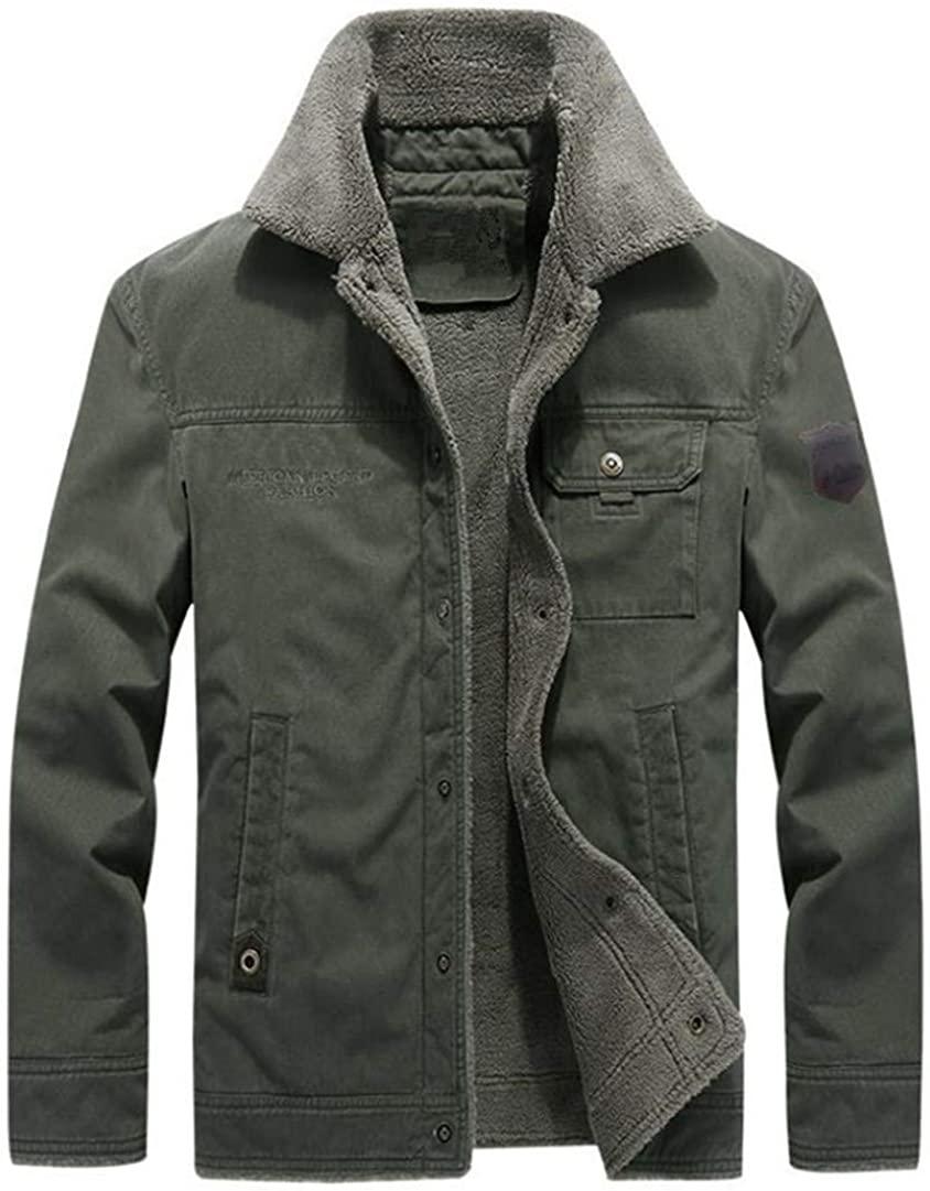 Winter Men Bomber Jacket Air Force Pilot Jacket Warm Collar Military Coat Plus Velvet Jacket Large Size