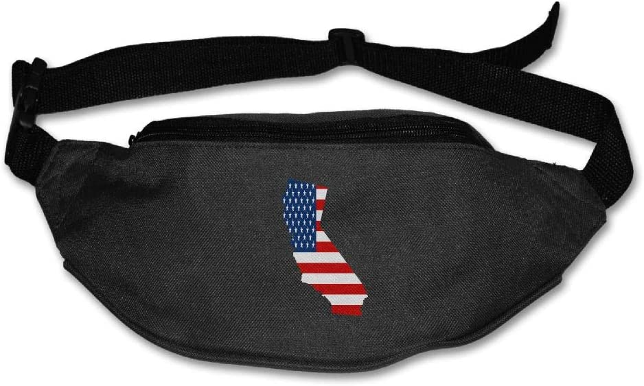 Eden Edies California State Map Shape The USA Flag Unisex Waist Pack Bag Belt