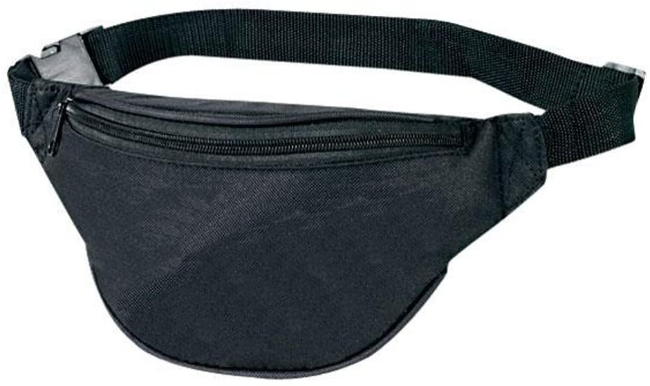 2-Zipper Fanny Pack - Black