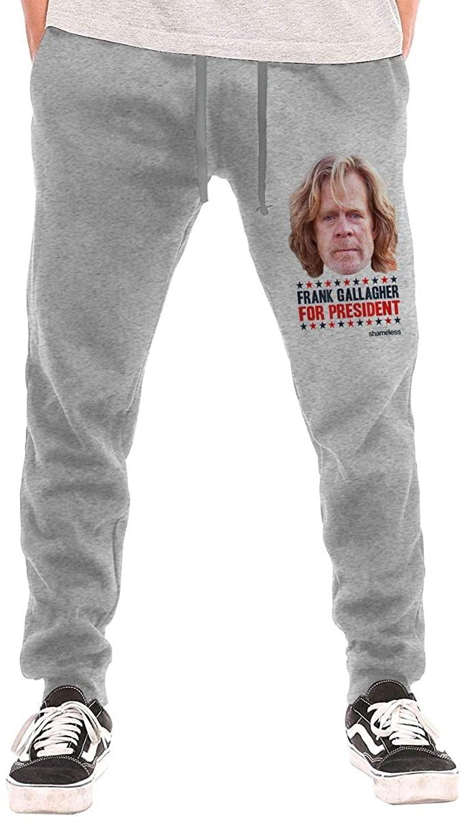 Kwtgsyhrt Shameless Frank Gallagher for President Mans Sweatpants Fashion Workout Pants