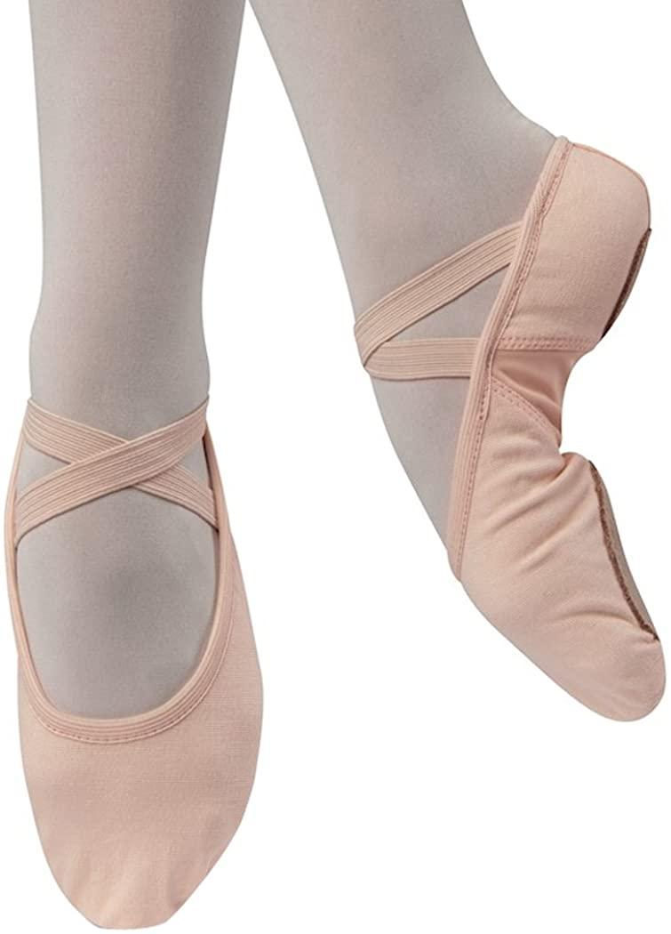 Danshuz Girls Youth Stretch Canvas Ballet Shoe