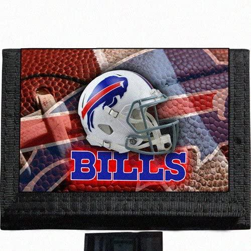 Bills Black TriFold Nylon Wallet Great Gift Idea Buffalo Football