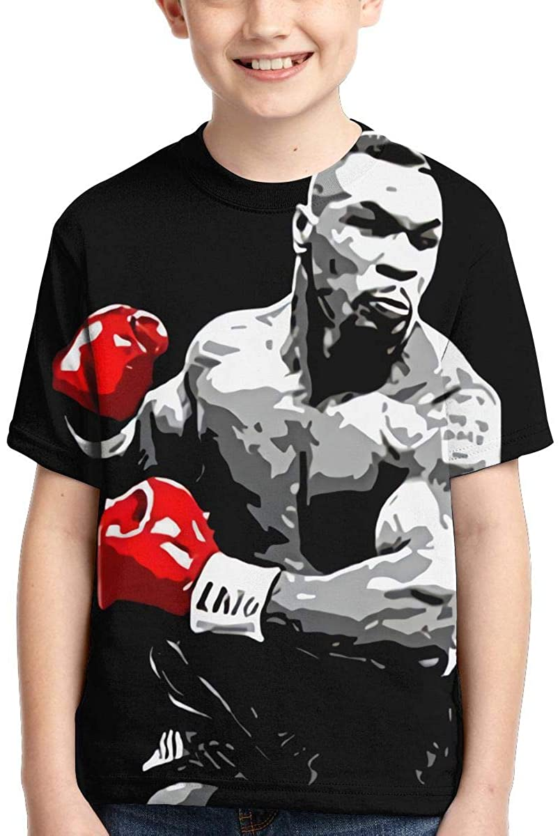 Qwtykeertyi Unisex Young T Shirt Mike Tyson Boxing Legend Child Shirts Tees